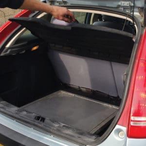 Mode plié - espace minimal dans le coffre du véhicule