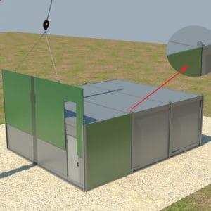 Système unique d'insertion pour le placement des murs fortifiés