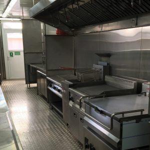 Équipement de cuisine industrielle permettant de fournir des centaines de repas chauds quotidiennement